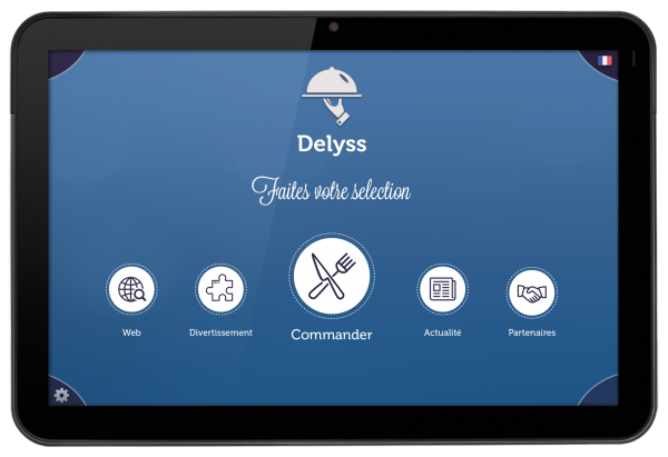 Delyss: meal order from touch tablet