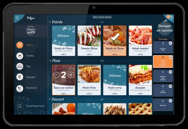 Sélection formules menu tablette