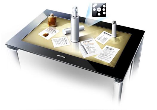 Microsoft pixelsense dymension for Table tactile 40 52 point sur40