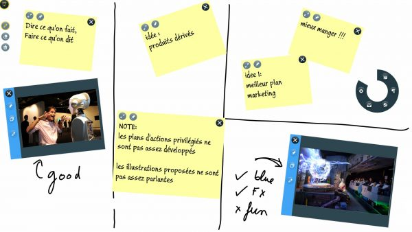 post-it tactile collaboratif
