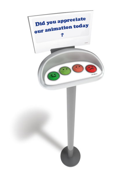 smiley happy or not box feedback kiosk