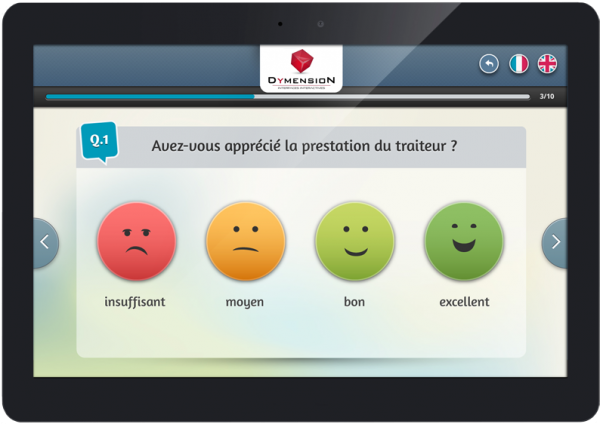 Expressyon application de sondage tactile