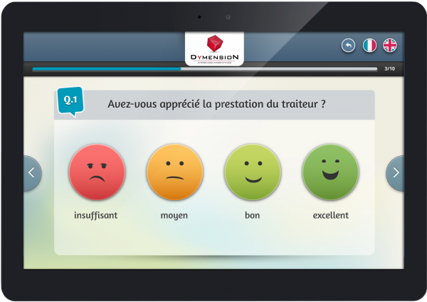 enquete satisfaction smiley tablette