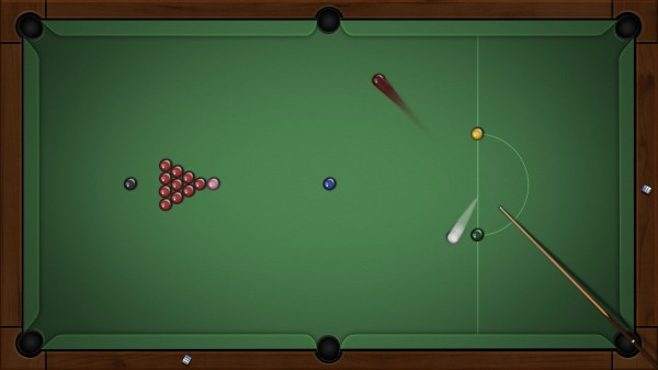 Jeu tactile adulte : billard