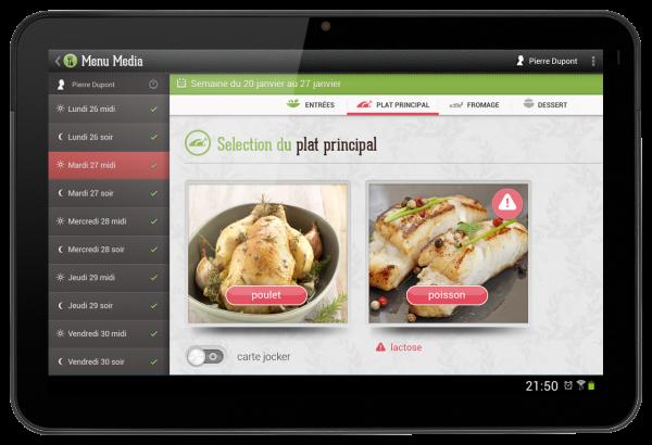 MediaMenu - Saisie tactile de menus en nombre