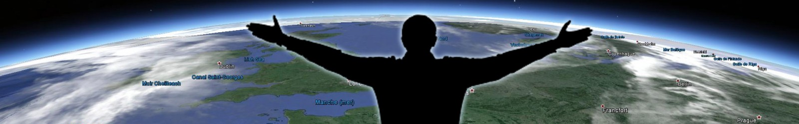Planysphere promenade sur Google Earth sans contact