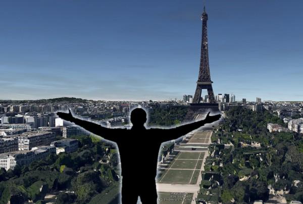 Visite d'un territoire sous GoogleEarth par des gestes en immersion sous Kinect