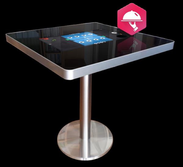 Table tactile pour passer commande de repas