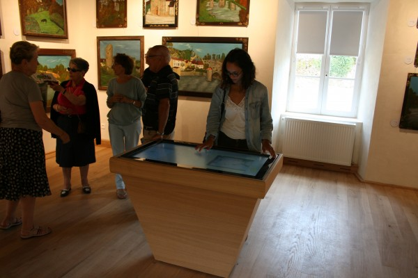 Touch table in museum