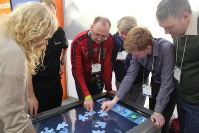 Utilisation table tactile
